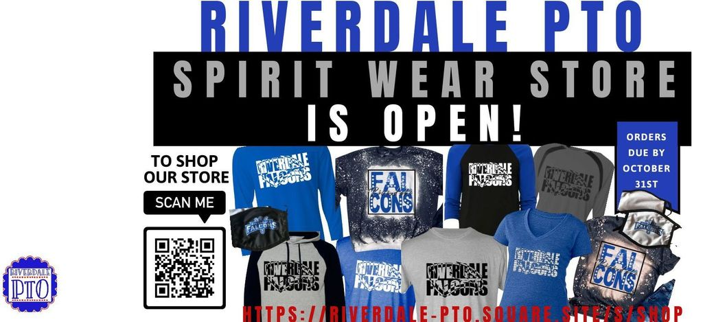 PTO Spirit Ware Shop is Open. Get Yours Today.