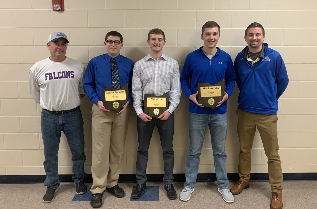 Coach Davis, Andrew Borkosky, Miles Frey, Alec Loveridge, and Coach Bostic