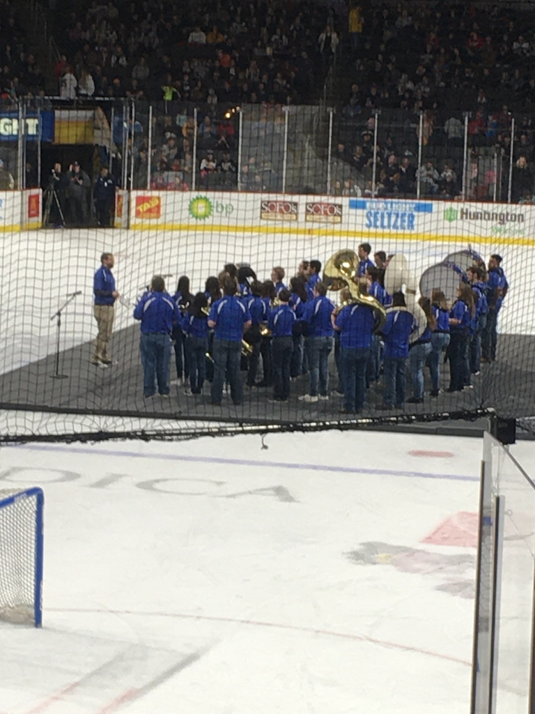 The Riverdale Pep Band had an amazing performance at the Toledo Walleye game tonight!